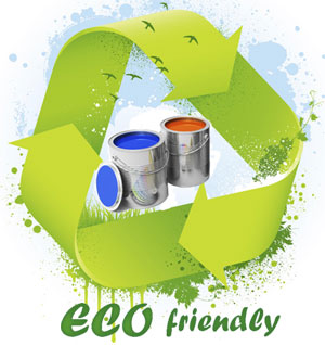 eco friendly green painting